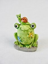 Fairy Garden Miniature Decor *Frog Snail Flowers* Resin Figure Brand New