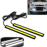 2x17CM super White DRL Fog Driving Lamp Waterproof Bright COB Car LED Light 12V