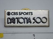 CBS Sports Daytona 500 Vintage 1980's Metap Lapel Pin