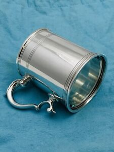 Antique Rare  Tiffany & Co. Sterling Silver Mug With Glass Bottom. # 21968