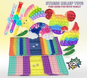 Poppet Push Bubble Sensory Fidget Kids Toy it Stress Relief Special Needs Autism