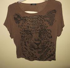 Cheetah Style Slouchy Shirt From Deb Cut Out Back Sequin Cheetah Print Shirt
