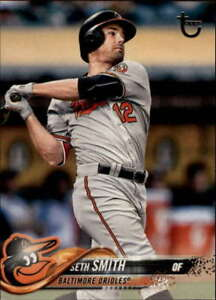 2018 Topps Vintage Stock #663 Seth Smith /99 Orioles