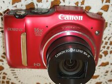 Canon PowerShot SX160 IS 16.0 MP Digital Camera - Red