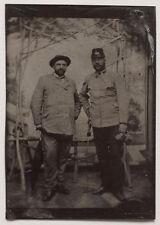 Original 1890er J. Ferrotypie, tintype, Militär, Soldat, Offizier