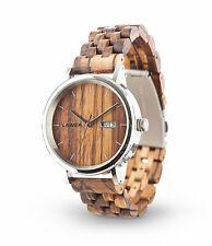 Laimer Holz Uhr Herren Uhr Automatic 0064 Roberto aus Zebrano Holz Männer Uhr