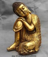 Chinese Buddhism Temple Copper Bronze Sleep Meditation Shakyamuni Buddha Statue