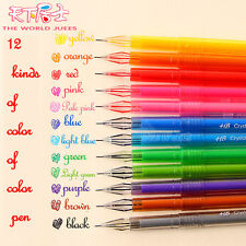 0.5MM 12 pcs/set Cute Colorful Gel Ink Pen School Office Business Supplies