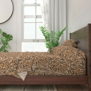 Animal Exotic Safari Leopard Cheetah 100% Cotton Sateen Sheet Set by Roostery