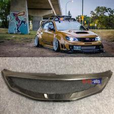 Carbon Fiber Front Mesh Grill Grille for 2008-2010 2010 Subaru Impreza WRX STi