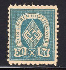WWII NAZI GERMANY PROPAGANDA CHARITY LABEL MINT Hinged SCARCE 50RPF
