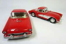 Kinsmart 1957 Chevrolet Corvette & 1955 Ford Thunder Diecast Toy Car VG Cond.!