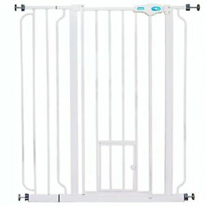 "Carlson Pet Products 36"" Extra Tall Pet Gate with Lift Handle and Small Pet Door"