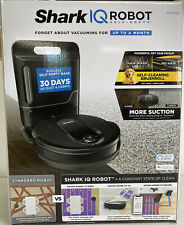 Shark RV1001AE IQ Wifi Robot Vacuum Cleaner with Self Empty Charger Base, Black