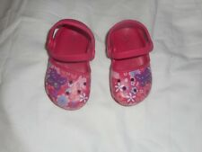 Girls Crocs Pink Flower/Butterfly    Size 6