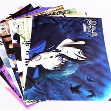 Anime Kuroshitsu Black Butler Ciel Sebastian Cosplay Collection Poster 8pcs Set