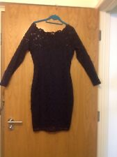 Next Petite size 14 ,unworn navy blue bodycon dress ,with long sleeves