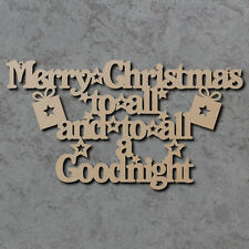 Merry Christmas To All Sign - Wooden Laser Cut mdf Craft Shapes