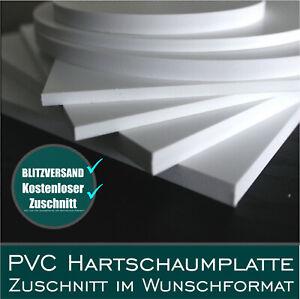 PVC Hartschaum Platte Hartschaumplatte 2-10mm Kunststoff Platte Zuschnitt Forex