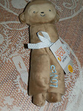 CARTER'S SECURITY BLANKET MONKEY RATTLE BROWN MOMMY LOVES ME VELOUR JUST ONE YOU
