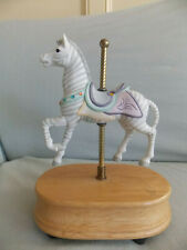 Vintage 1985 Porcelain Motion Carousel Horse Music Box