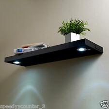 New Wall Floating Shelf wtih Built-in LED light Adjustable Storage Shelf 80cm