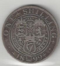 GREAT BRITAIN, 1899, SHILLING,  SILVER,  KM#780,  FINE-VERY FINE+