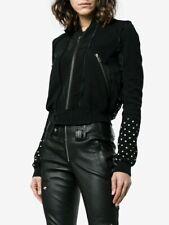 Haider Ackermann Polka Dot Bomber Jersey Jacket in Black Size - Small (S) BNWT