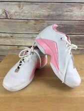 Rare Vtg Air Jordan Jumpman Team Retro 2004 Leather White & Pink Shoes Sz 5.5Y