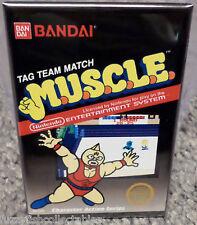 """M.U.S.C.L.E. Nintendo NES Vintage Game Box  2""""x3"""" Fridge Locker MAGNET Muscle"""