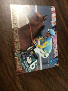 American Pharaoh 2015 Horse Racing Trading Card Hot Springs Arkansas NM FS