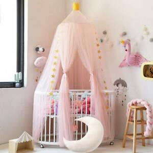 Kids Baby Bed Canopy Bedcover Mosquito Net Princess Curtain Bedding Dome Tent AA