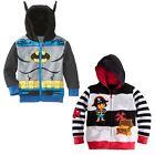 Batman Pirate Enfants Bébés Bébé Garçon Manteau Fermeture Éclair Veste Capuche