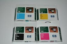 Genuine HP 14 Black & Color Printheads Set of 4 C4920A/21A/22A/23A Expired: 2005