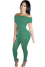 Abito Tuta Nudo Aderente Scollo Fascia Ballo Cocktail Fitting Party Jumpsuit M