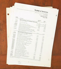 ROLLEI LOT OF DEALER NOTEBOOK PAGES/101541