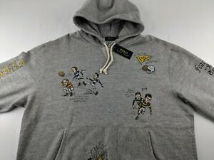 NEW Polo Ralph Lauren St. Andrew 2XLT 2XL Tall Grey Rugby Hoodie RRL Casual