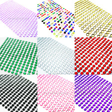 Rhinestone Stickers Strips Sheet Acrylic flat back gems Self Adhesive 3 4 5 6mm