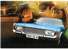 Ford Taunus 20M 1969-70 UK Market Sales Brochure Sedan Hardtop Station Wagon XL