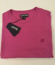 New w Tags AUTHENTIC Vilebrequin  Cotton T-Shirt Fuchsia / Pink for Men Size M