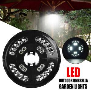 Patio Umbrella Pole Lights 3 Modes Cordless 28 LED USB port Ten Garden