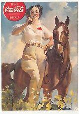 La pubblicità AK Coca Cola Pin Up? Donna con Cavallo del 1940! (a322