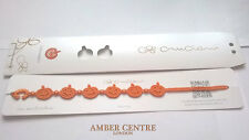 Genuine Italian Made Cruciani Bracelet-PUMPKIN-HALLOWEEN-ORANGE LIMITED EDITION!