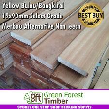 Yellow Balau / Bangkirai 19x90mm Select Grade. Merbau Alternative Non leech