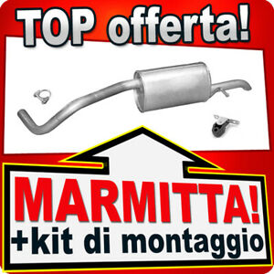 Silenziatore posteriore SEAT IBIZA SKODA FABIA VW POLO 1.2 dal 2005 Marmitta NNN