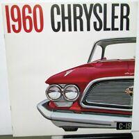 1960 Chrysler New Yorker Saratoga Windsor Prestige Sales Brochure XL Large Rare