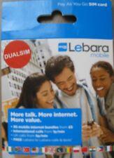 Lebara Micro Tarjeta Sim Para Iphone 4/4s, Galaxy S3/s4-payg-Cheap Int' l llamadas