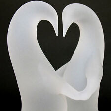 Penguin Figurines Dancing Glass Wedding Cake Top Topper