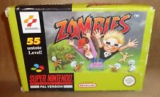 Snes Game Zombies with Original Box Boxed Super Nintendo