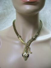 Snake Costume Necklace Egyptian Nile Queen Cleopatra Goddess Serpent Asp Medusa